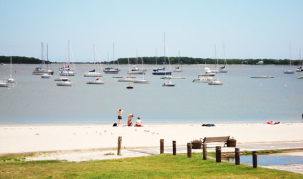 A Beach in Hyannis. MA